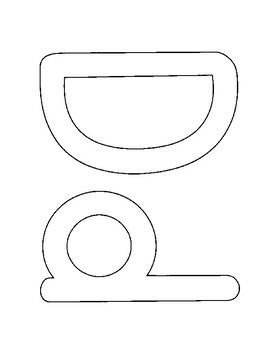 Bulletin Board or Alphabet Book Letters or Cut and Paste Stencils