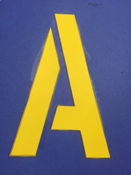 Bulletin Board or Roman Letters or Cut and Paste Stencils 8x5inches