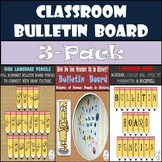 Bulletin Boards: Alphabet & Sign Language Pencils & How Do You Measure Up?