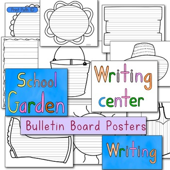 Bulletin Board & Writing Center Paper: Garden Theme