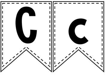 Bulletin Board Letters - Bunting
