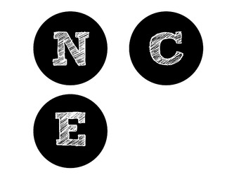 Bulletin Headers - Black Circle Letters