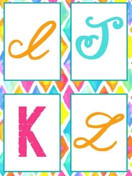 Bulletin Letters Bright and Bold Themed | Classroom Decor for Classrooms
