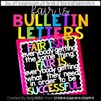 Bulletin Letters: Fair Is