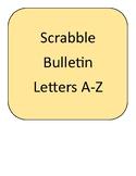 Bulletin Scrabble Tile Letters A-Z