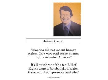 Bulletin board: U. S. Presidents (quotations & writing prompts)