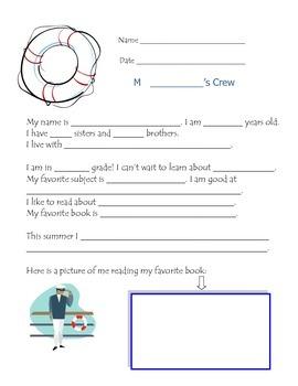 Bulletin board idea for Nautical Theme or Back to School