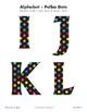 Bulletin polka dot letters