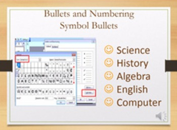 How-to Video -- Bullets and Symbols using MS Word