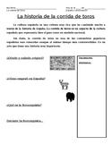 Bullfighting history guided notes