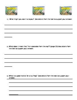 Bullfrog at Magnolia Circle - Main Idea and Details / Text Depend. Questions