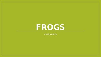 Bullfrog at Magnolia Circle vocabulary