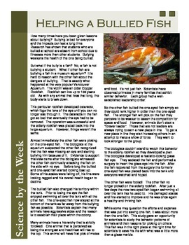 Bullied Fish:  Informational Text