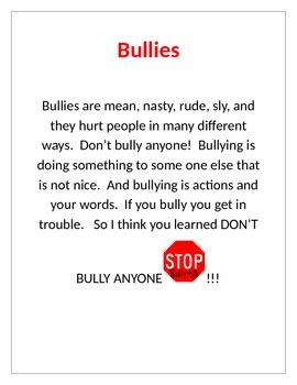 Bullies Poster
