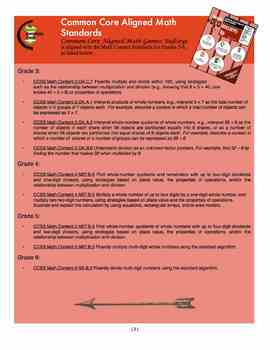 Common Core Aligned Math Games: Bullseye!  A Fun Long Division Game for Gr. 3-6