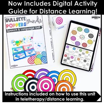 Bullseye Ball Popper Articulation: Speech Therapy Distance Learning Activity