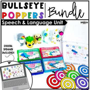 #Nov2018SLPMustHave Bullseye Popper BUNDLE : LOW PREP Speech Therapy