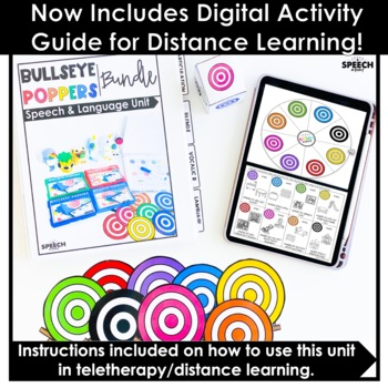 Bullseye Ball Popper Activity BUNDLE - Speech Therapy Distance Learning