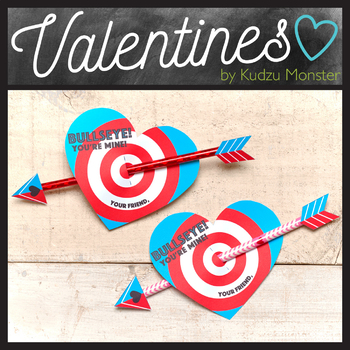 Bullseye Pencil Valentine