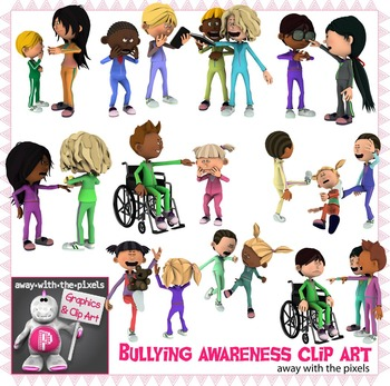 Bully Awareness Clip Art - Clip Art for Teachers - Commerc