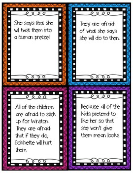 Bully Beans Book Companion Discussion Cards Resource with Bonus Story