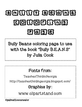 Bully Beans Coloring Page