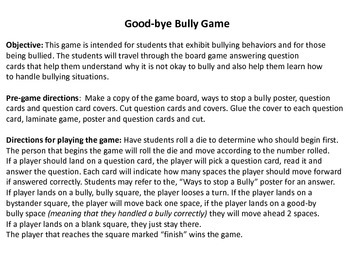 Bully Board Game
