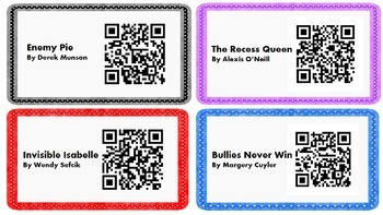 Bully Buster QR Code Listenting Center with Problem/Solution Page