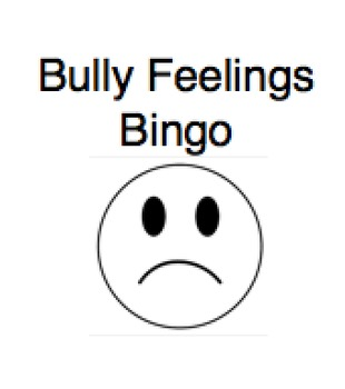 Bully Feelings Bingo