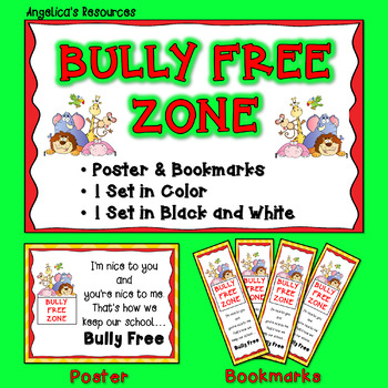 FREEBIE: Bully Free Bookmarks    #kindnessnation  #weholdt