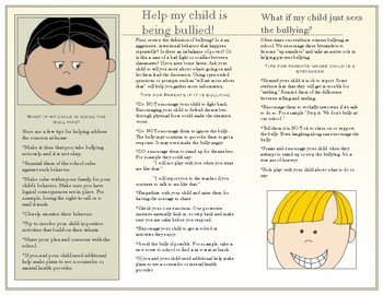 Bully Prevention Brochure for Parents