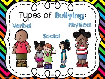 Bully Prevention: Posters and Worksheets