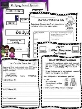 Bully(Patricia Polacco)-Differentiated Sequencing-Theme-Characters-Setting-Rules