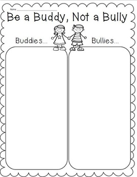 Bully vs. Buddy Worksheet