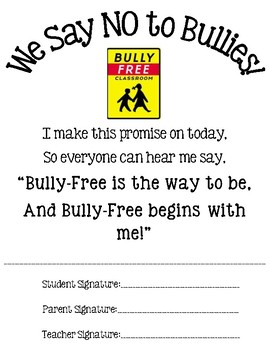 Bullyfree Pledge