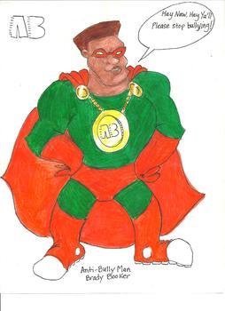 Bullying, Antibully Man Super Hero Sticker