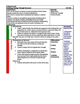 Bullying: A Message Through Movement LESSON PLAN ONLY