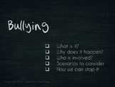 Bullying: A PowerPoint Presentation