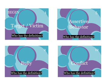 Bullying Prevention Vocabulary Activity