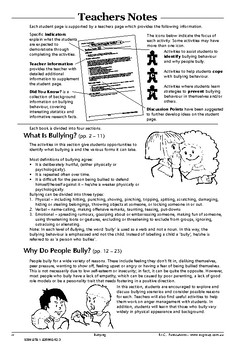 Bullying – Ages 8-10