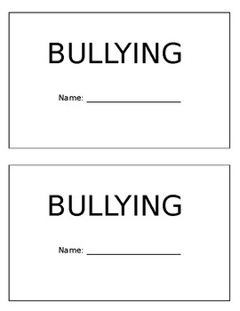 Bullying Booklet