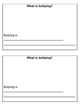 Bullying Booklet