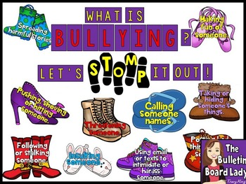 Bullying Bulletin Board - Let's Stomp Out Bullying