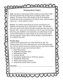 Bullying Consequences Stop Motion Activity