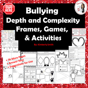 Bullying Depth and Complexity Frames, Games, and Activities