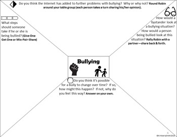 Bullying Depth and Complexity Frames & Task Cards Only