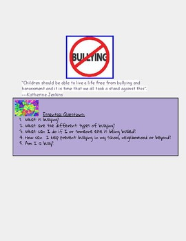 Bullying-  Digital Lesson Google Classroom Compatible