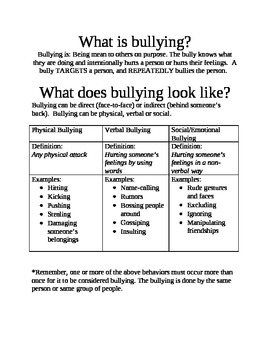 Bullying Facts Sheet