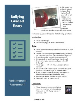 Bullying Guided Essay- For any LOTE language