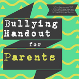 Bullying Handout for Parents